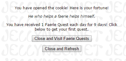 Faerie Quest Fortune Cookie